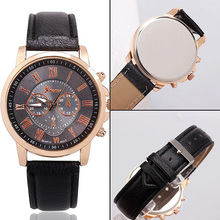 NEW! Women's Geneva Roman Numerals Faux Leather Band Analog Quartz Wrist Watch