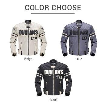 мотоциклетные куртки для мужчин | DUHAN, летняя мотоциклетная куртка, Мужская, дышащая, сетчатая, для езды на мотоцикле, мотоциклетная куртка, для тела, защита, для мотокросса, од...