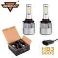 Auxbeam COB Chips HB3 Linterna Del Coche 6000 K Bombillas Led Luz de Conducción 9005 enchufe solo haz de luz de niebla para honda/toyota 12 v 24 v 6000 k
