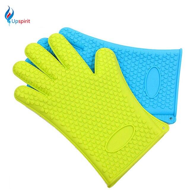 1pc Brand New Heat Resistant Silicone Glove Mitt Kitchen Cooking Glove Non  Slip Oven Mitts Gloves