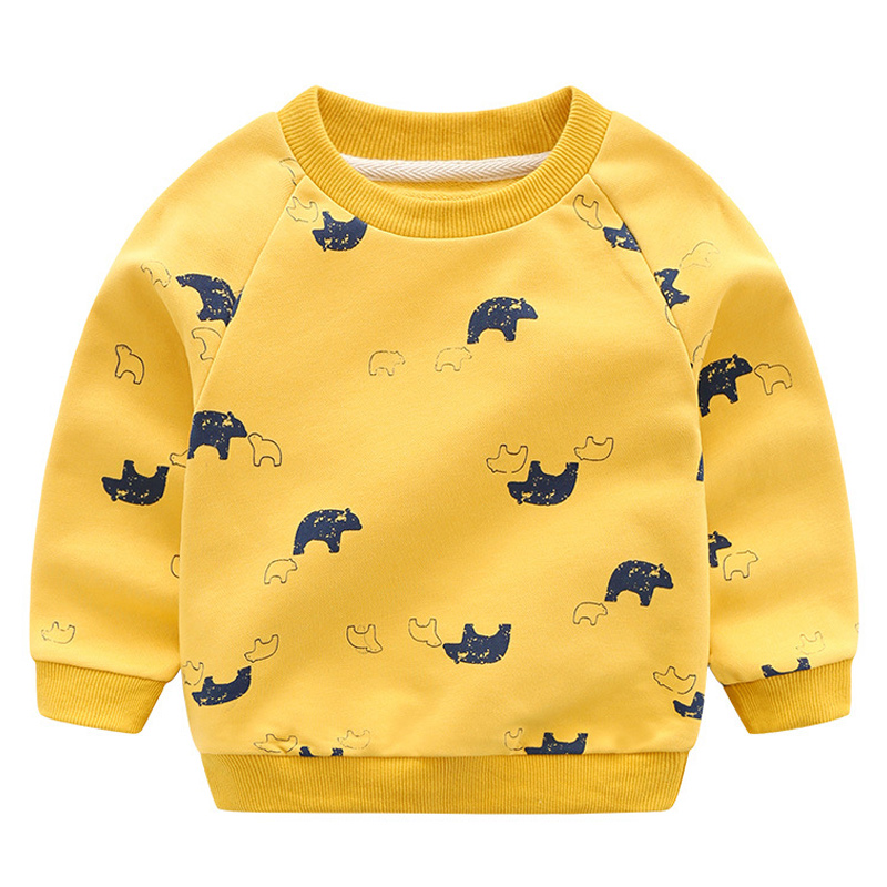 Children Sweatshirt Boys Cartoon Long Sleeve T-shirt Toddler Tops Enfant Tee Clothes Autumn Winter Children Baby Boys T Shirts
