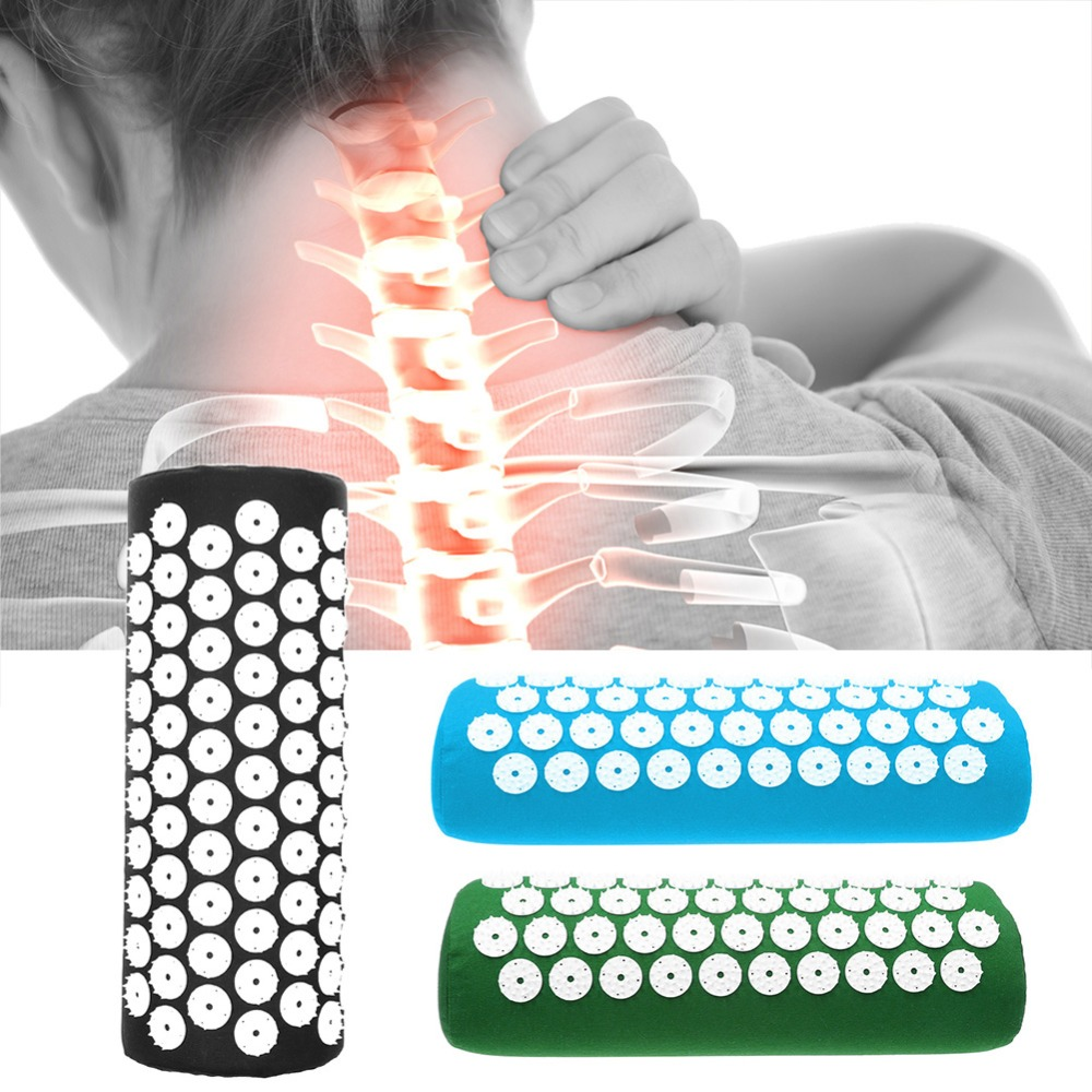 NEW Acupuncture Massager Pillow Relieve Body Pain Stress Acupressure Cushion Body Massage Cotton Pillow Massageador