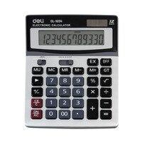 Deli 1654 New Solar Power Powered Financial Desk Desktop Jumbo Large Buttons 12 Digit Calculator Battery