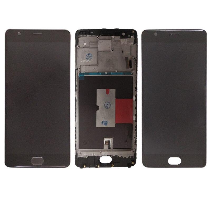 Pour OnePlus 3 3 t lcd Un Plus 3 t 3 LCD Affichage à L'écran Tactile Digitizer Assemblée Avec cadre la maison bouton A3010 A3000 lcd écran
