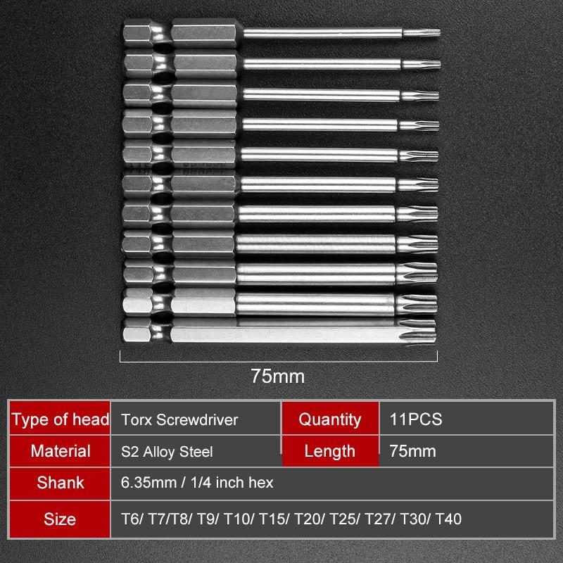 BIT s2-Acier tournevis t30 Torxbit 2 Bits torx t30 x 25