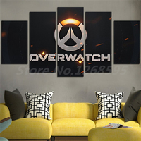 Overwatches Game Logo 5 Pieces HD Canvas Posters Prints Wall Art Painting Decorative Picture Modern Home Decoration Drop Shipper