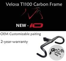 2018 Velosa супер легкий полный углерода дорожный мотоцикл F10 frame, рама + вилка + + подседельный Headlebar, 700C углерода гравия тормозного диска frameset