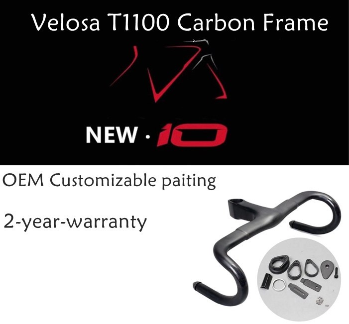 2018 Velosa super light full carbon vélo de route F10 cadre, Cadre + Fourche + Tige de Selle + Headlebar de, 700C carbone frein à disque de cadres de Gravier