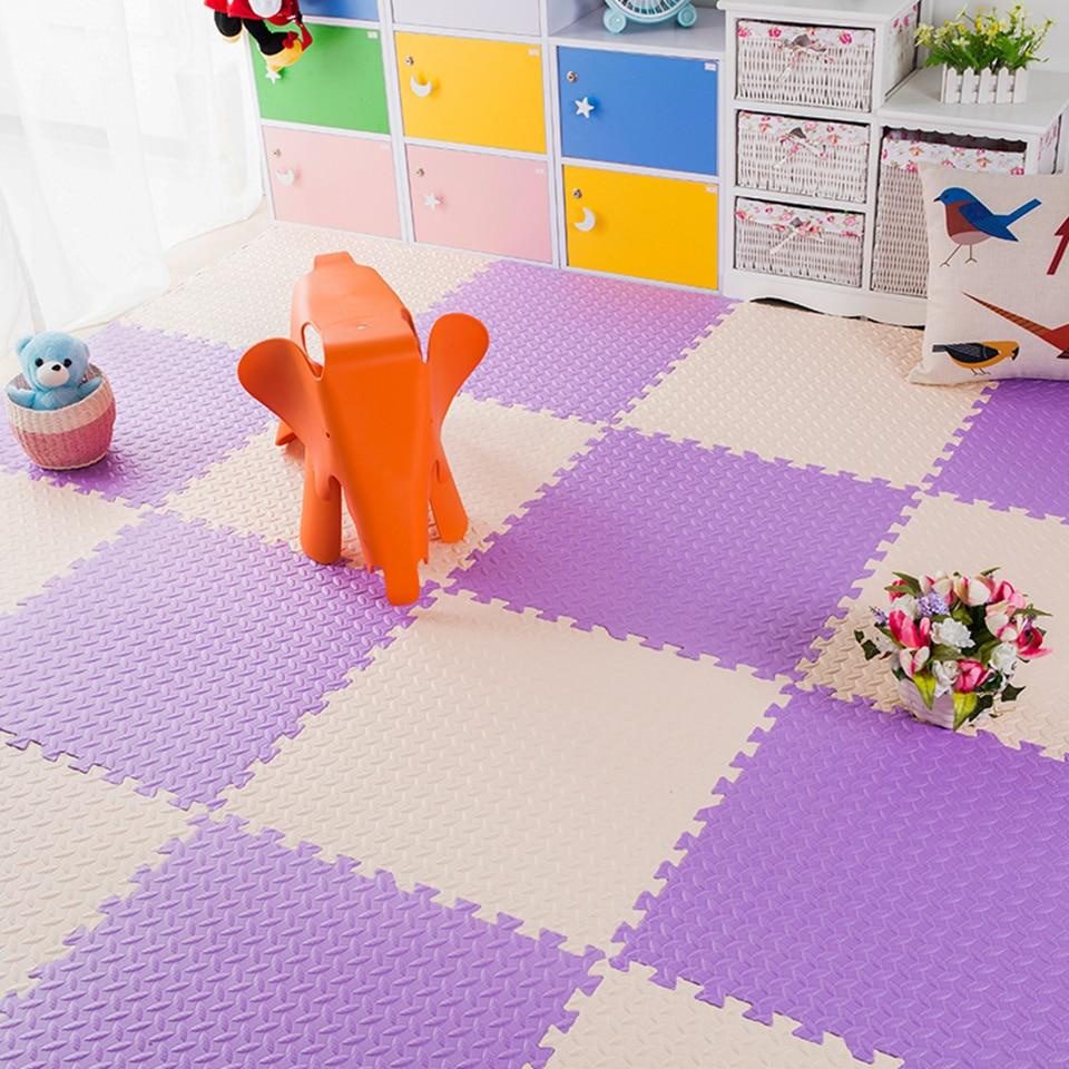 Купить с кэшбэком 18/12PCS EVA Foam Playmat Baby Play Mat Crawling Flooring Carpets Waterproof Non-toxic Gym Games Blanket