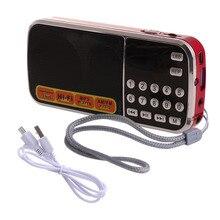 נטענת נייד מיני דיגיטלי סטריאו FM רדיו רמקול מוסיקה נגן עם TF כרטיס USB AUX קלט עם תצוגה ופנס