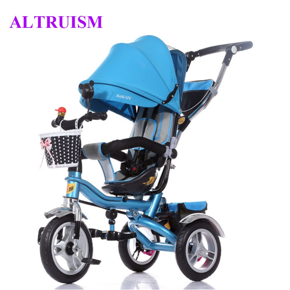 Multifunctional Stroller Inflatable Rubber Tires Baby