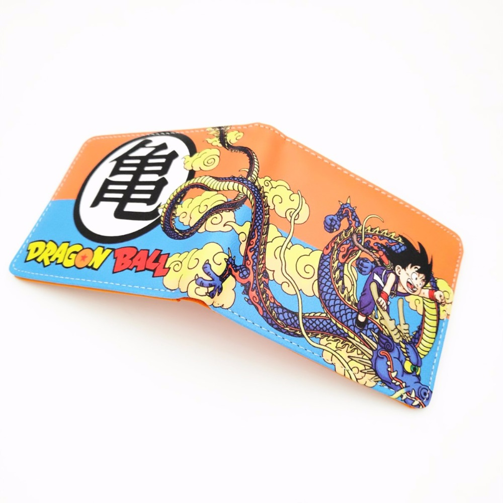 Japan anime Dragon Ball Z Wallet Young Men Women Students Cartoon Fashion Short Wallets coin short Purse W372 dragon ball z wallets men women creative gift purse standard short wallet leather money organizer bags cartoon anime wallet