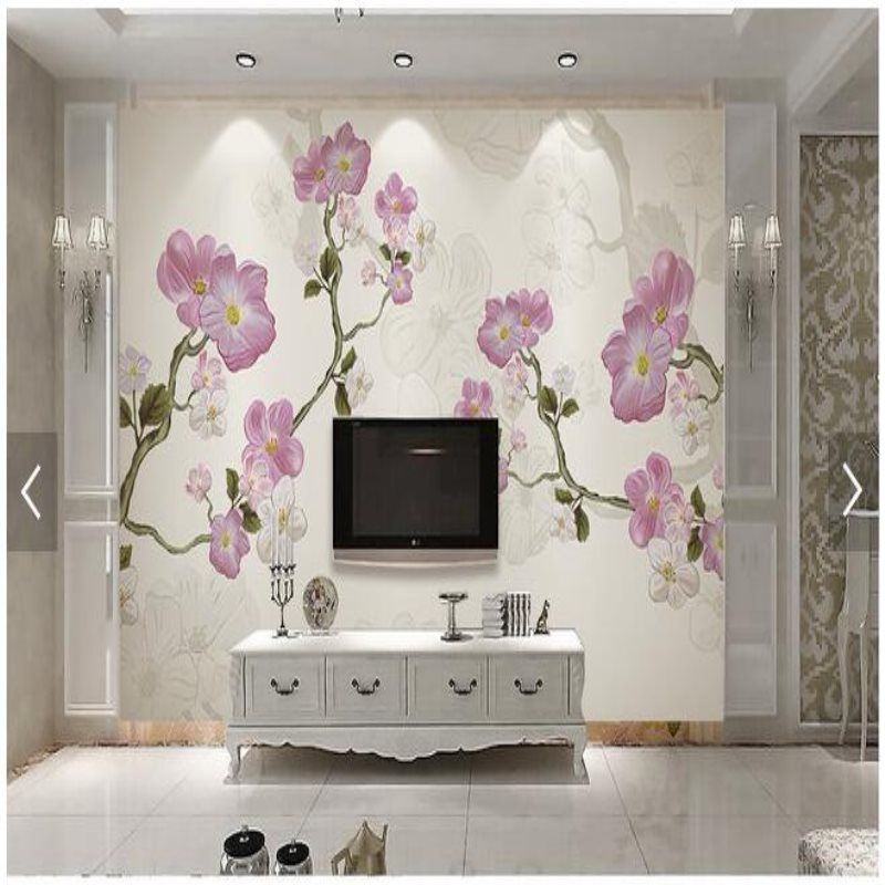 living wall tv backdrop bedroom paper mural shipping custom background wallpapers