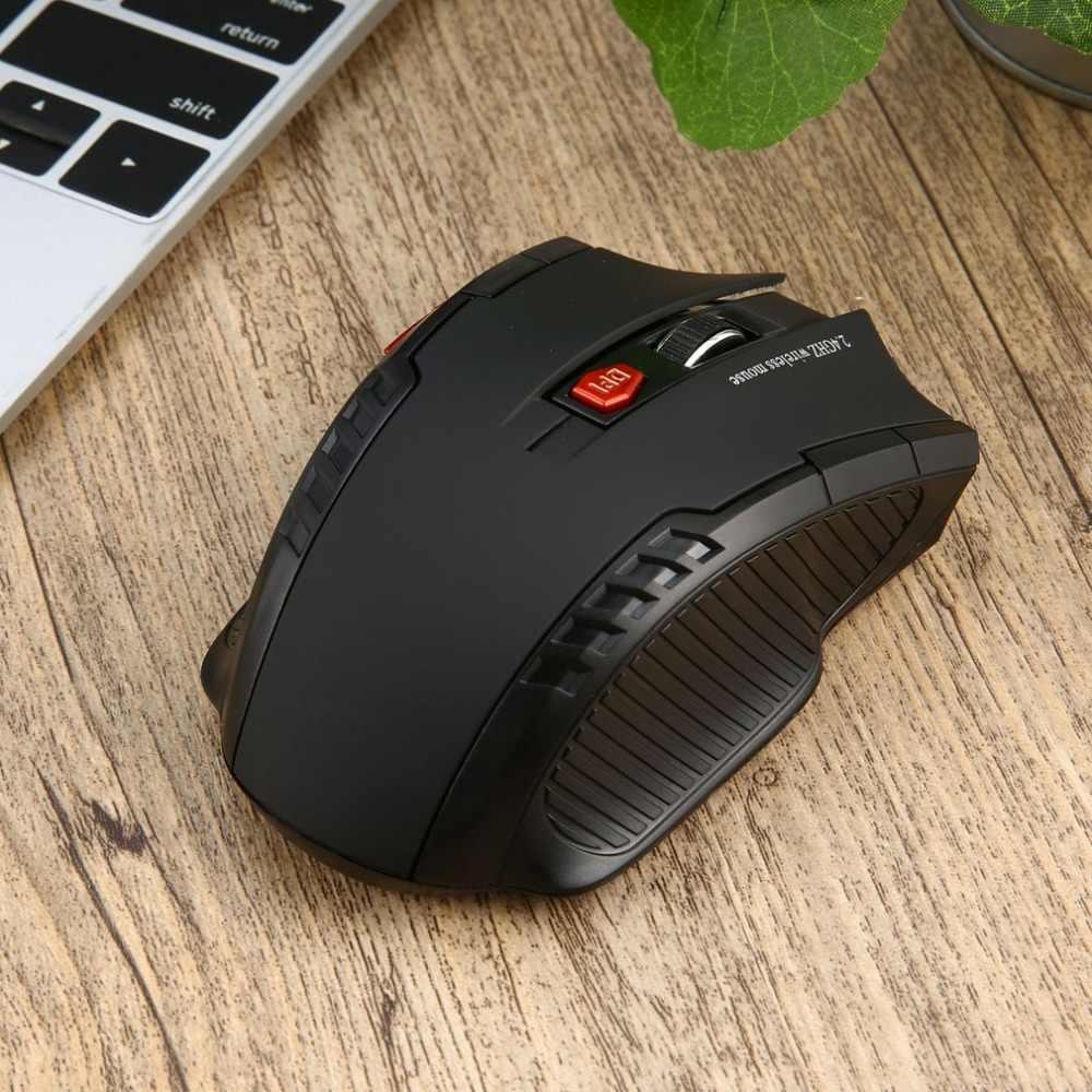 WH109 المحمولة 2.4 GHz اللاسلكية الفأرة الضوئية مع USB استقبال مصممة للمنزل مكتب لعبة اللعب استخدام التوصيل والتشغيل