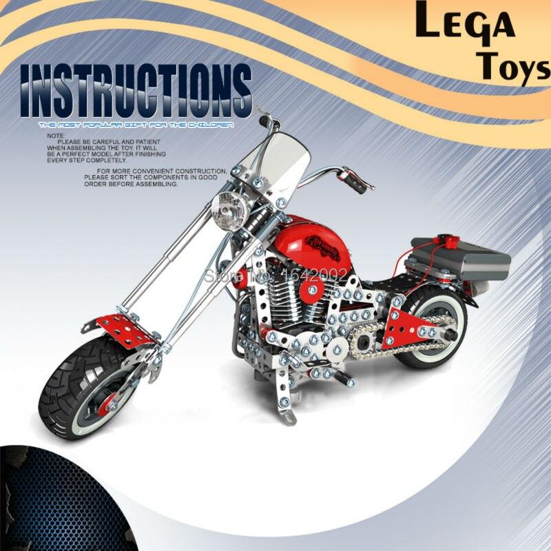 US $87 0 42% OFF|Assembly Concept 3D Puzzle DIY Metal Building Blocks  940PCS/Set Harley Assembling Car Modle Best Gift for Kids Educational  Toys-in