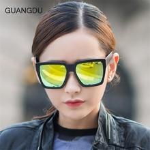 Guangdu Fashion Sunglasses for Women Men Unisex Sun glasses Female Square Frame Style Eyewear 9708