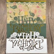 Happy Birthday Letter Metal Cutting Dies Words for Scrapbooking Album Card Making Paper Embossing Die Cuts