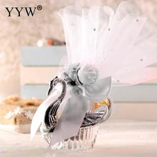 50pc/Set Sliver Swan Gift Box Candy Box Candies Package Box Wedding Dragees Wedding Gift Boxes Birthday Party Favors Supplies