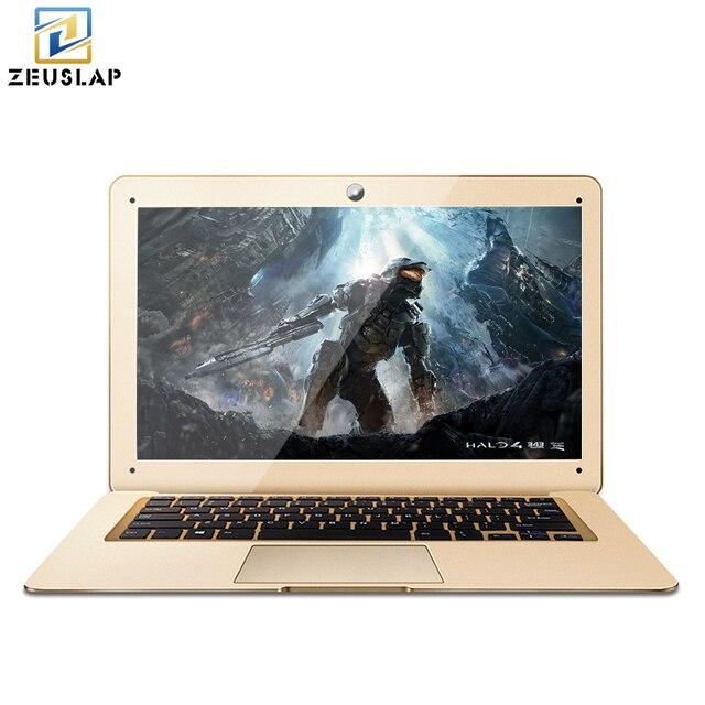 ZEUSLAP-A8 ультратонких 4 ГБ оперативной памяти + 500 ГБ HDD Окна 7/10 Системы 4 ядра быстрая загрузка ноутбука Тетрадь Нетбуки компьютер