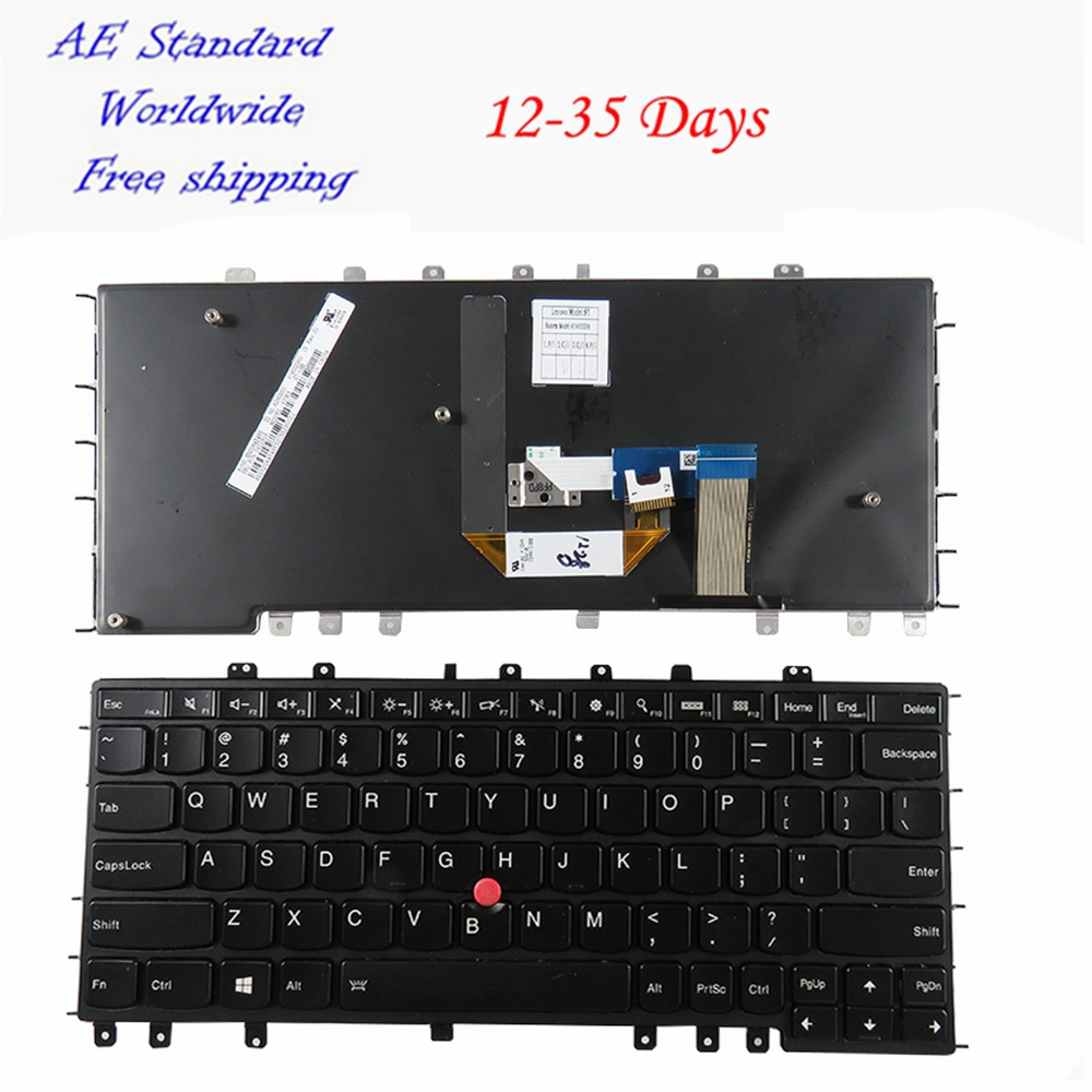 US Laptop Keyboard For Lenovo For IBM For Thinkpad YOGA S1 S240 YOGA 12 New English Black with pointing stick backlight new english laptop keyboard for lenovo thinkpad edge e530 e530c e535 us keyboard 04y0301 0c01700 v132020as3