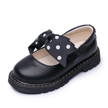 AFDSWG PU girls moccasins black children leather shoes white girls shoe