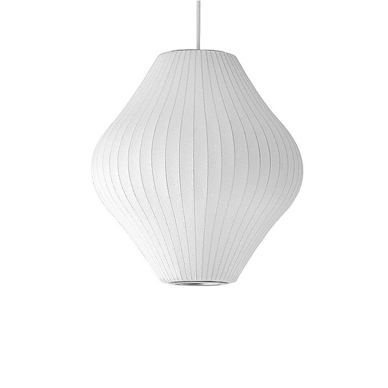 peer hanglamp wit zijde metalen drum lichten voor woonkamer