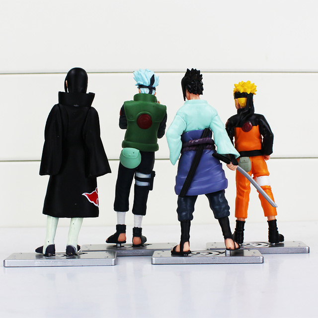 4pcs/lot Naruto Figure Kakashi Sasuke PVC Model Toy