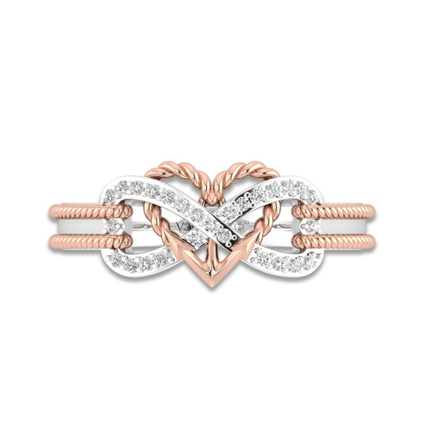 Heart Infinity Rope Ring 2