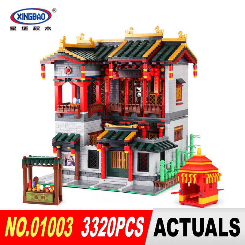 XingBao 01003 3320Pcs Chinese Architecture Set Creative MOC Series Children Educational Building Blocks Bricks Toys Model Gifts in stock new xingbao 01101 the creative moc chinese architecture series children educational building blocks bricks toys model