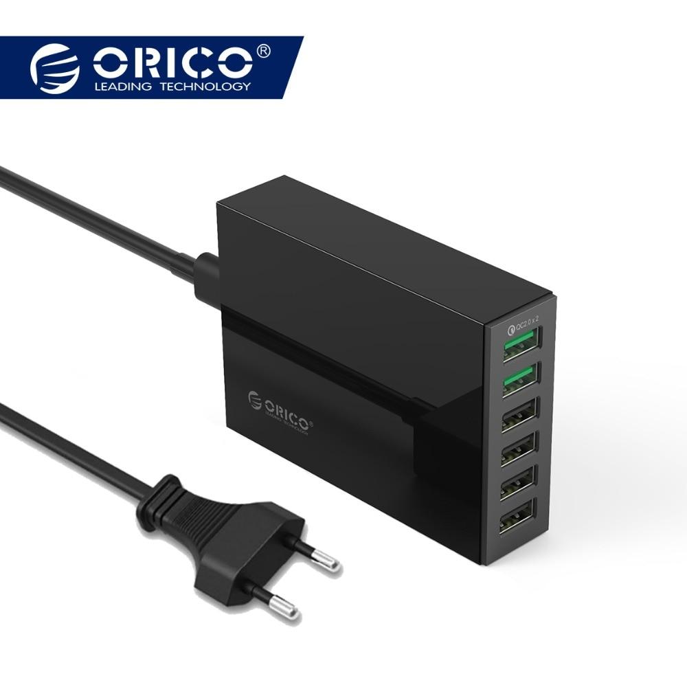 ORICO QSL-6U 6 Ports QC2.0 Quick USB Charger Mobile Phone