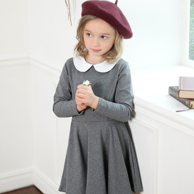 Baby Girl Dress Autumn Winter Doll Collar Princess Dress Children Long Sleeved Girls Party Dress Kids Clothing Family Matching children s girls autumn long sleeved korean lace princess dress kids clothing mesh lace white