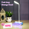 Originality 3-in-1 USB Rechargeable Message Board LED desk lamp night light Touch table lamp Flexible Arbitrary bending read