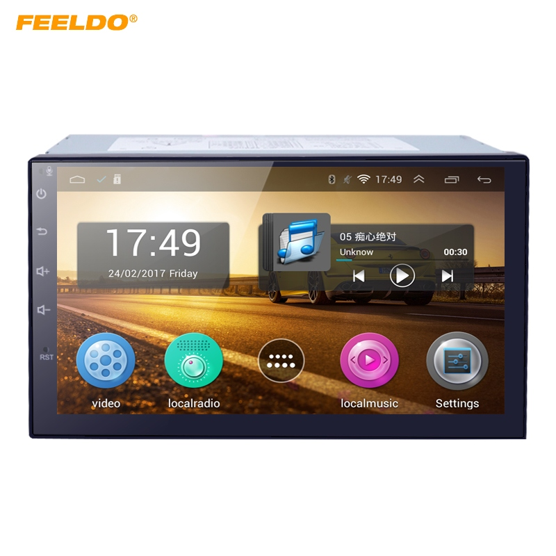 FEELDO 7inch Android 4.4.2 Quad Core Car Media Player With GPS Navi Radio For Nissan/Hyundai Universal 2DIN ISO +Gift #AM3900 feeldo 7inch android 4 4 2 quad core car media player with gps navi radio for nissan hyundai universal 2din iso gift am3900
