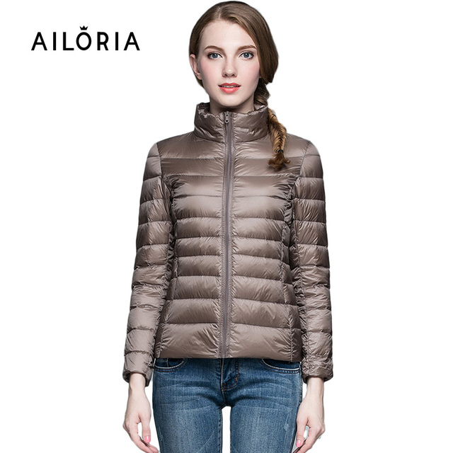 2017 Top Quality Brand Ladies Short Winter Autumn Overcoat Women Ultra Light 90% White Duck Down Coat With Bag ladies' Jackets