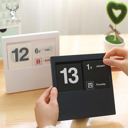 Творческий Винтаж вечный календари Классический DIY Recycle книги по искусству ремесла для дома, офиса, школы украшение стола подарки