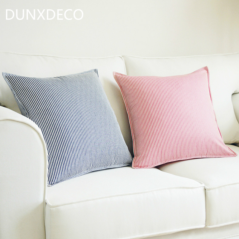 Dunxdeco Cushion Cover Decorative Pillow Case Fresh Simple