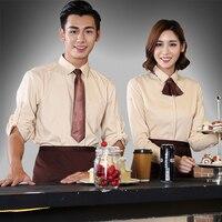 Hotel Cafe kelner jednolite Długi rękaw Garnitur w stylu Western Żywności Kombinezony Ciasto Fast-food Restaurant recepcjonistka jednolite