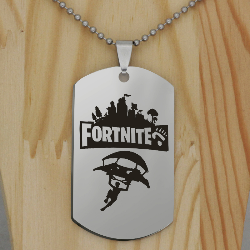 FPS Game Flying Man pendant Fortnite pendant stainless steel jewelry necklace Customed words or name necklace N446