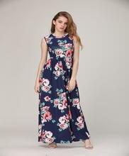 Женское платье жилет без рукавов с принтом цифр в наличии 2019