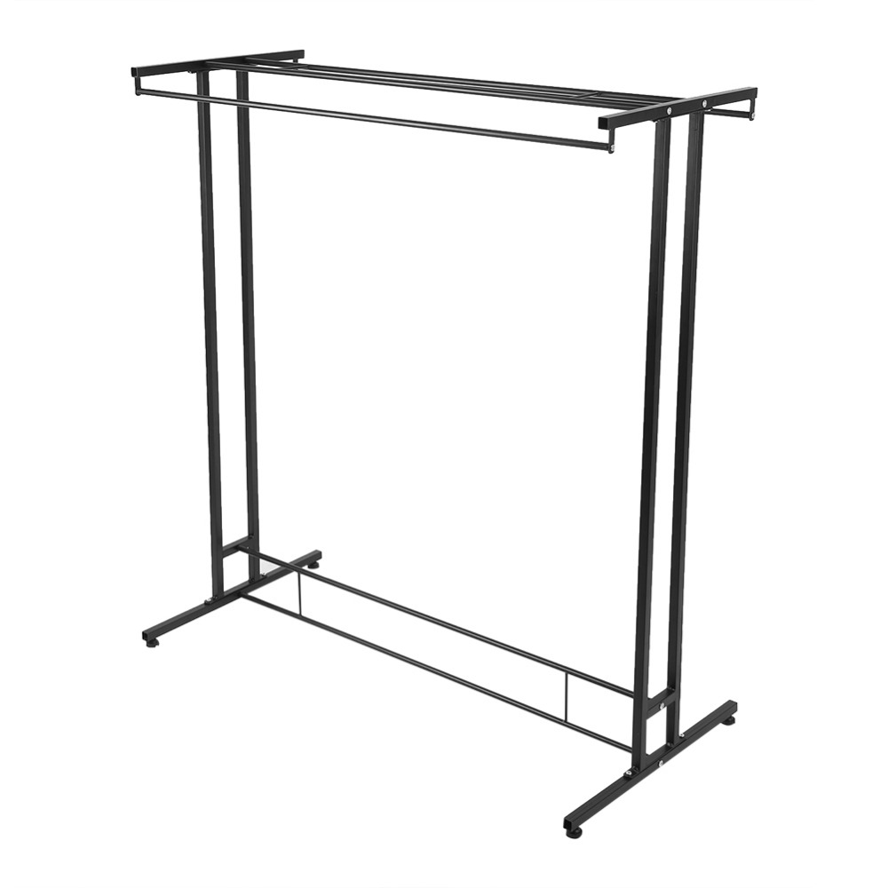 Meubles Salle De Bain Perpignan ~ Durable Metal Double Rods Stable Structure Home Garment Rack