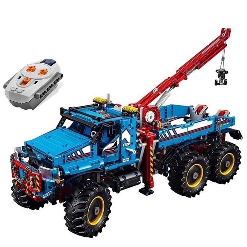 Legoing Technic Remoto Control 6x6 All Terrain Tow รถบรรทุกขนาดใหญ่ Chunky ยาง 2   In   1 รถบรรทุกบล็อกของเล่นเด็ก LEGOings ชุด-ใน บล็อก จาก ของเล่นและงานอดิเรก บน   3
