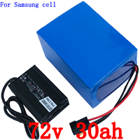 72V Lithium battery 72v 30ah 3000W Scooter Battery 72V 30AH use samsung cell electric bike battery with 50A BMS+84V 5A charger