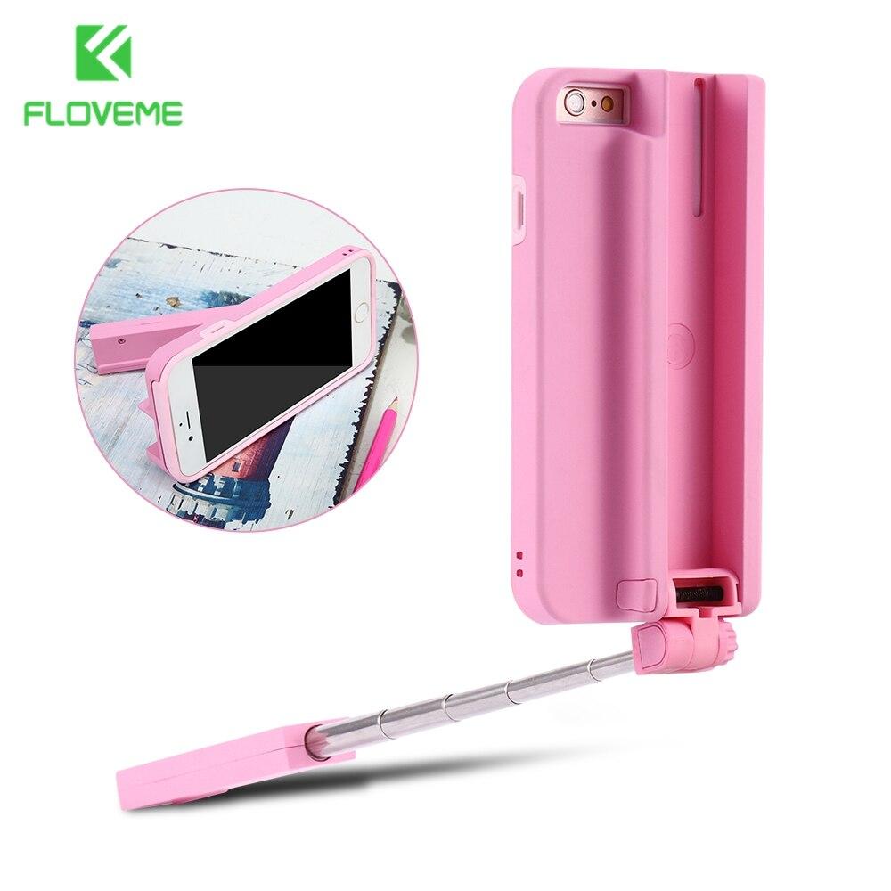 bilder für FLOVEME Selfie Stick Fall Für iPhone 6 6 s Plus Bluetooth Handheld Kamera selbstauslöser Hebel Retractable-Abdeckung für iPhone 6 s