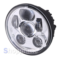 Round Motorcycle headlight 5.75'' led Driving Lights for Harley 883 Iron Sportster 5 3/4 inch Black Projector Headlamp
