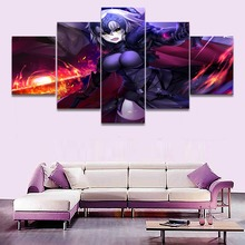 5 Piece Fate Grand Order Avenger Anime Painting Canvas Wall Art HD Print Decorative Picture Modern Home Living Room