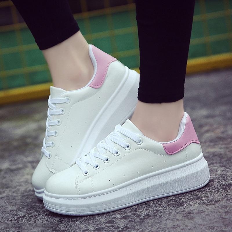 verde Encaje Plataforma oro Blancos Mujeres Zapatillas Zapatos De Mujer 2019 Casual Deporte rosado Negro Invierno B7wqUwZO