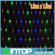 110V/220V 1.5M*1.5M 120pcs LED Net Light Led String Christmas Lights Garlands RGB/White/Blue/Warm White 8Modes for Holiday/Party