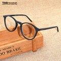 2017 Rodada óculos Imitação de madeira material de armação óculos Moda retro Miopia computer eye glasses frames para mulheres dos homens Da Marca