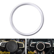 Car Styling Steering Wheel Cover Trim Interior Chrome Decor Ring Sticker For Jaguar XF XE F-Pace F-Type 2016 2017 Car Accessory