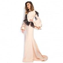 Stunning Mermaid Evening font b Dress b font with Long Trumpet Sleeve Cheap vestidos de festa